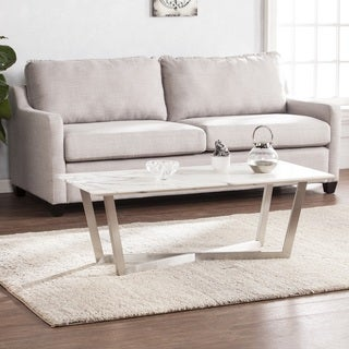 Harper Blvd Walham Faux Marble Cocktail Table - Soft Ivory w/ Gray