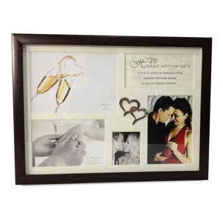 Heim Concept 25th Anniversary Collage Photo Frame with Double Heart Icon