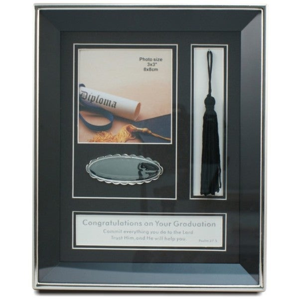 "Heim Concept Graduation Photo Frame 3""x3"" Photo Opening"
