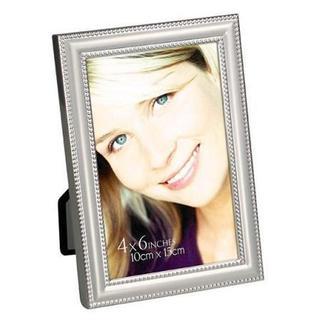 "Heim Concept Katherine 4 x 6"" Photo Frame, Beaded with Silver Aluminium"