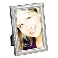 "Heim Concept Katherine 4 x 6"" Photo Frame, Beaded with Silver Aluminium"