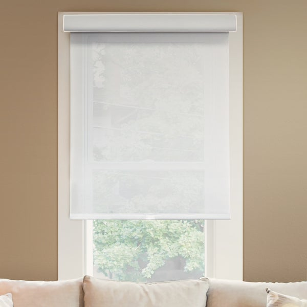 Chicology Deluxe Magnolia Privacy Light Filtering Fabric 72-inch Free-stop Cordless Roller Shade