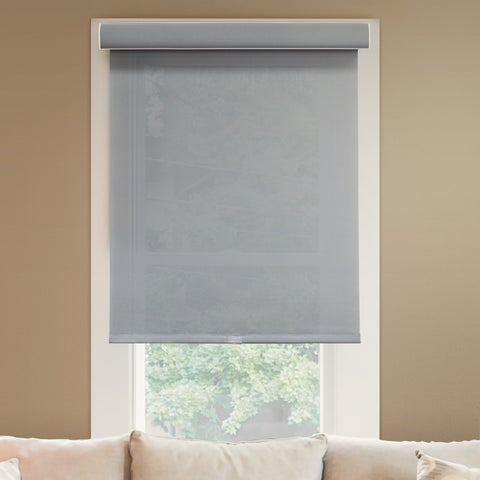 Chicology Pebble Deluxe Free-Stop Privacy Light-Filtering Fabric Cordless Roller Shade