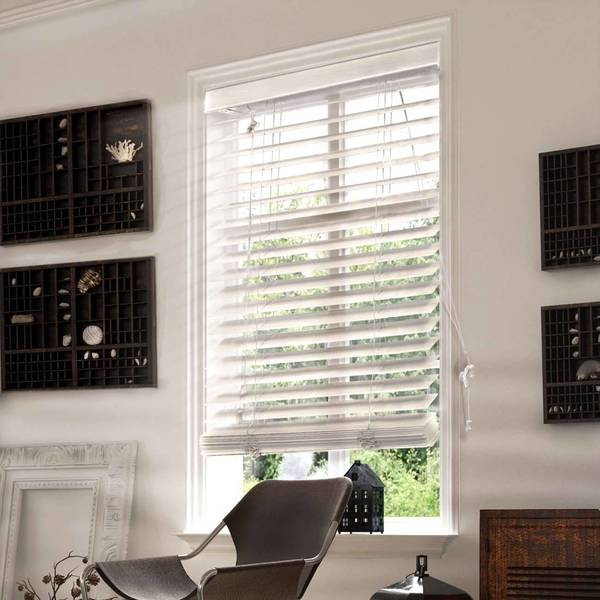 Chicology Simply White Faux Wood Horizontal Venetian Blind Free Shipping On Orders Over 45