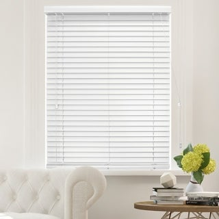 Chicology Simply White Faux Wood Horizontal Venetian Blind (More options available)