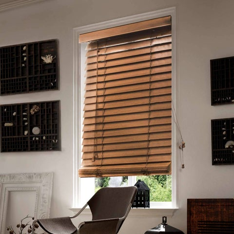 Chicology Simply Brown Faux Wood Horizontal Venetian Blind
