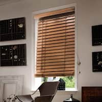 Chicology Simply Brown Faux Wood Horizontal Venetian Blind