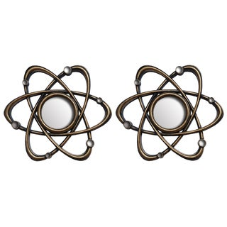 Wee's Beyond Galaxy Bronze10-inch Decorative Wall Mirrors (Set of 2)