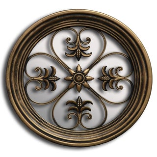 Bronze 10-inch Decorative Floral Wall Mirror
