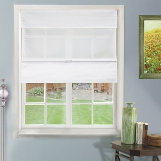Chicology Daily White Cordless Magnetic Roman Shade