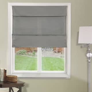 Chicology Grey Light Filtering Magnetic Roman Shade|https://ak1.ostkcdn.com/images/products/14595777/P21140672.jpg?impolicy=medium