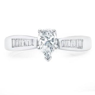 LeZari & Co. 14k White Gold 1ct TDW White Diamond Engagement Ring (H-I, I1-I2)