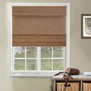 Chicology Jamaican Truffle Cordless Magnetic Roman Shade