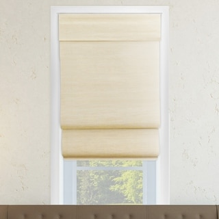 Chicology Abaca Cream Cordless Double-Layered Roman Shade