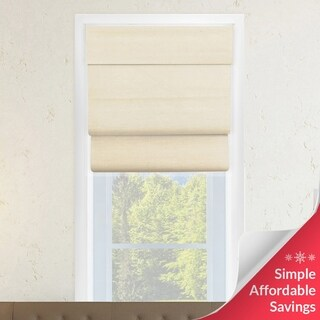 Chicology Sandstone Cotton Cordless Double-layered Roman Shade