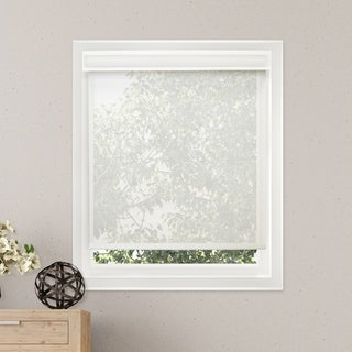 Chicology Solar Cloud White Free-Stop Cordless Light Filtering Privacy Roller Shade