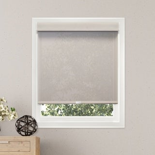 Chicology Sailcloth Pearl Free-Stop Cordless Light Filtering Privacy Roller Shade