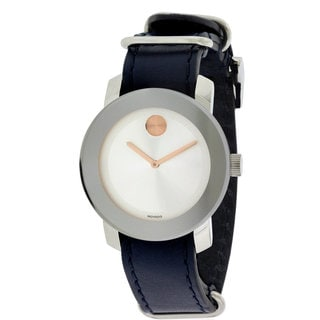 Movado Bold Ladies' 3600362 Blue Leather Watch