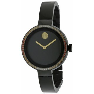 Movado Women's 3600283 Black Stainless Steel and Rubber Bold Diamond Watch