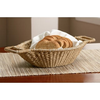 18-inch Jute Wrapped Oval Basket