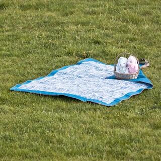 Lightspeed Outdoors Outdoor Folding Blanket Blue Weave