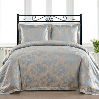 Comfy Bedding Blue Cotton Blend 450 Thread Count 3-piece Duvet Cover Set