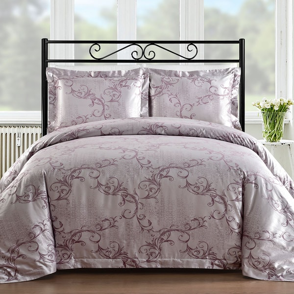 Comfy Bedding Lavender Cotton Blend 450 Thread Count 3-piece Duvet Cover Set