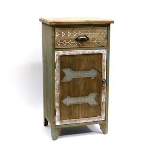 Arrowhead Cabin Wood Storage Cabinet
