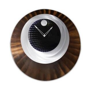 Aluminum and Wood Centered Clock