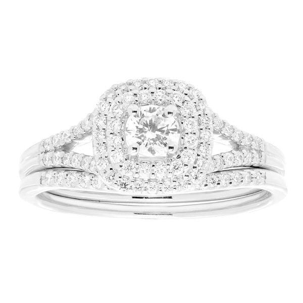 14k Gold 1/2ct TDW White Diamond Bridal Set