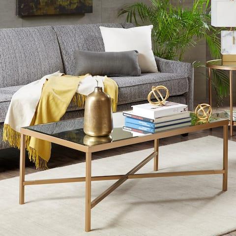 Madison Park Brandy Mirror/ Bronze Coffee Table