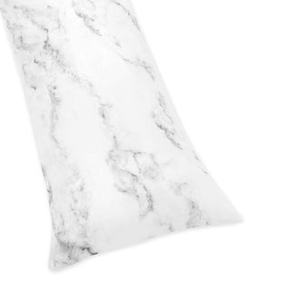 Sweet Jojo Designs Body Pillow Case for the Black and White Marble Collection