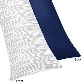 Sweet Jojo Designs Woodsy Collection Navy and Mint Microfiber Body Pillow Case