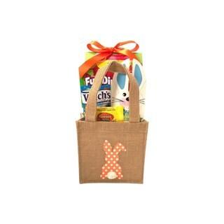 Orange Burlap Bunny Easter Basket