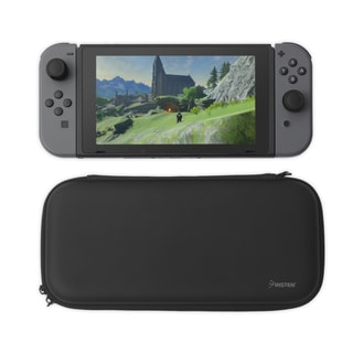 INSTEN Black Hard EVA Travel Carrying Case with 4 Card Slots for Nintendo Switch