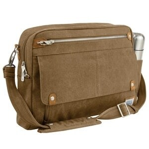 Travelon Heritage Anti-theft Messenger Briefcase (Option: Oatmeal)
