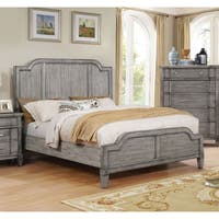 Furniture of America Dresdelle I Transitional Wooden Grey Queen-size Bed