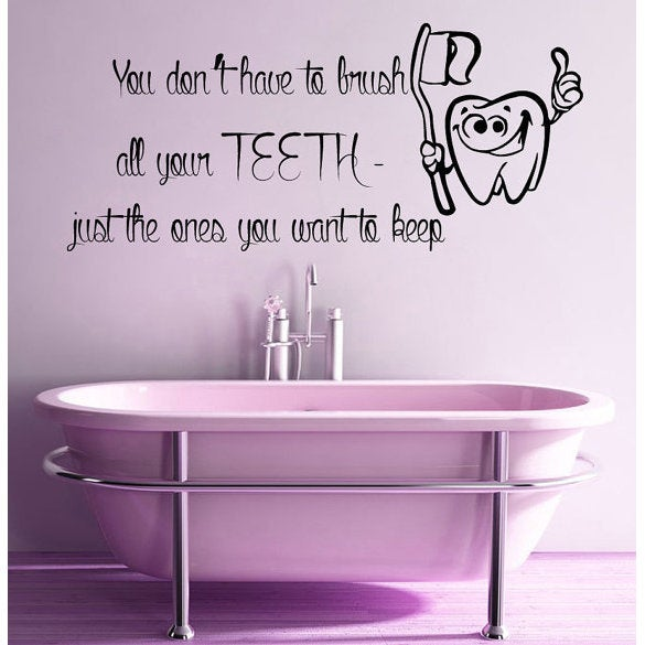 Shop Brush Your Teeth Wall Quotes Vinyl Decal Sticker Bath Words