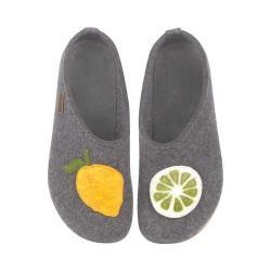 Women's Haflinger Lemon Clog Grey