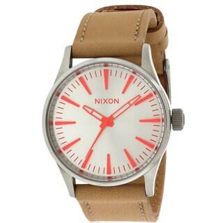 Nixon Ladies' Beige Leather Boyfriend-style Watch