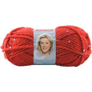 Deborah Norville Collection Serenity Chunky Sequin Yarn-Ruby Slippers