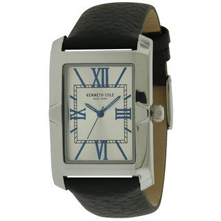 Kenneth Kole New York Stainless Steel and Leather Men's Watch