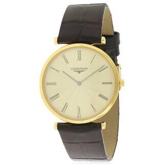 Longines Men's L47092412 La Grande Classique Leather Watch https://ak1.ostkcdn.com/images/products/14600896/P21145111.jpg?impolicy=medium