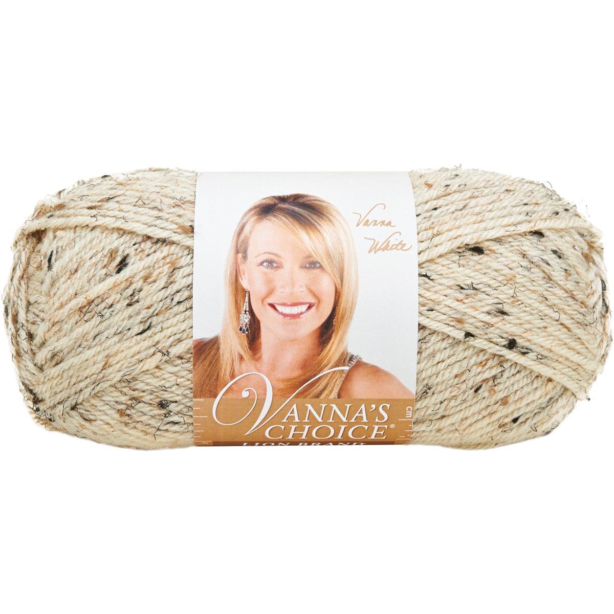 Lion Brand Vanna's Choice Yarn-Oatmeal (Oatmeal), Black