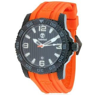 Timberland Men's Sandown TBL_13613JSB_02 Black/Orange Silicone Watch