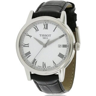 Tissot Carson Men's Leather Stainless Steel Watch