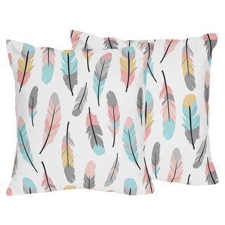 Sweet Jojo Designs Arrow Print Feather Collection 18-inch Accent Throw Pillows (Set of 2)
