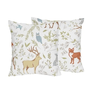 Sweet Jojo Designs Woodland Toile Collection 18-inch Accent Throw Pillows (Set of 2)