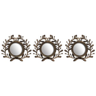 Wee's Beyond 10-inch Decorative Greek Wall Mirrors (Set of 3)