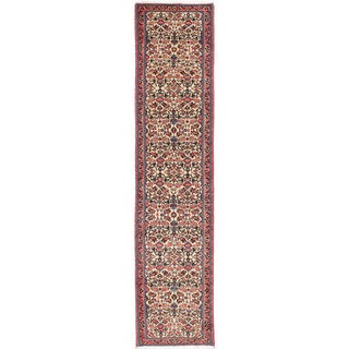 Ecarpetgallery Hand-knotted Roodbar Blue Wool Rug (2'10 x 13'1)